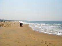 Una passeggiata lungo la riva Immagine Stock