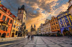 Una passeggiata a Praga Immagine Stock