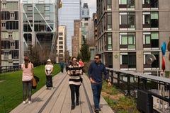 Una passeggiata sull'alta linea Fotografia Stock