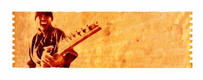 Una pazzia delle sette stringhe (musica 02) Fotografie Stock Libere da Diritti