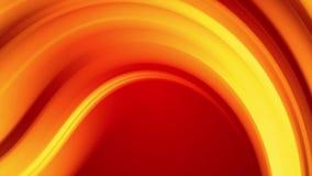 Una pendenza gialla rossa dei cambiamenti luminosi di un colore del fuoco lentamente e periodicamente animazione astratta avvolta illustrazione di stock