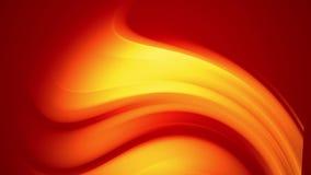 Una pendenza gialla rossa dei cambiamenti luminosi di un colore del fuoco lentamente e periodicamente animazione astratta avvolta illustrazione vettoriale