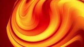Una pendenza gialla rossa dei cambiamenti luminosi di un colore del fuoco lentamente e periodicamente animazione astratta avvolta stock footage