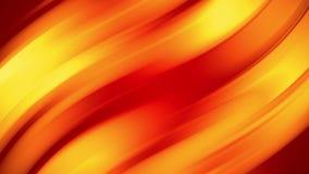 Una pendenza gialla rossa dei cambiamenti luminosi di un colore del fuoco lentamente e periodicamente animazione astratta avvolta archivi video