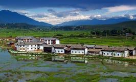 Una pequeña aldea en China fotos de archivo libres de regalías