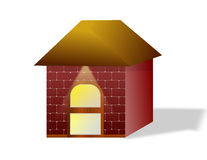 Una casa de la pequeña caja Imagen de archivo