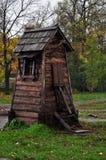 Una pequeña casa de madera Fotos de archivo