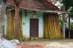 Una pequeña casa en Moc Chau Foto de archivo libre de regalías