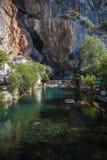 Una pequeña ciudad Blagaj en Bosnia y Herzegovina foto de archivo libre de regalías