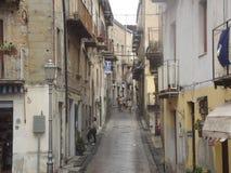 Una pequeña ciudad italiana Imagen de archivo
