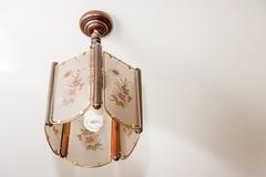 Una pequeña ejecución de la lámpara del techo Fotos de archivo libres de regalías