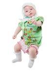 Una pequeña niña recién nacida linda Foto de archivo libre de regalías