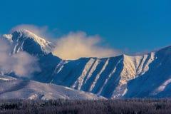 Una pequeña parte de la gama de Livingston en Parque Nacional Glacier Imagen de archivo