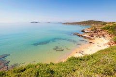 Una pequeña playa en Andros, Grecia Fotografía de archivo libre de regalías