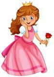 Una pequeña princesa feliz Foto de archivo libre de regalías