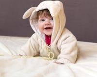 Una pequeña sonrisa del niño Fotos de archivo