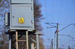 Una pequeña subestación para la fuente de electricidad Foto de archivo libre de regalías