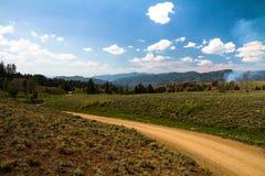 Una pequeña vista del país abierto Fotografía de archivo