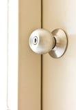 Una perilla de puerta de acero Imagen de archivo libre de regalías