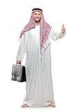 Una persona árabe con pulgares para arriba Imagen de archivo libre de regalías