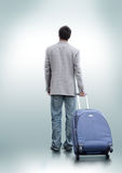 Una persona que decidía viajar Imagen de archivo