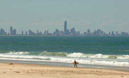El horizonte de Gold Coast - Brisbane Imagen de archivo libre de regalías