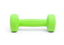 Una pesa de gimnasia verde Fotografía de archivo libre de regalías