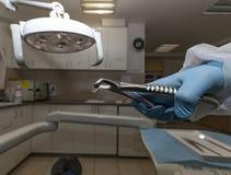 Una pesadilla dental imagen de archivo libre de regalías