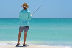 Una pesca locale del giovane Fotografia Stock