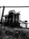 Una pianta abbandonata del forno fotografie stock