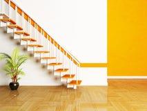 Una pianta e scale nella stanza Immagini Stock Libere da Diritti