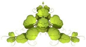 Una pianta frondosa verde Fotografie Stock