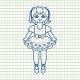 Una piccola ballerina in un bello vestito Fotografia Stock
