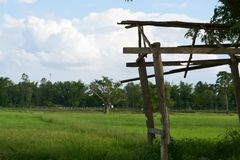 Una piccola capanna in azienda agricola Fotografie Stock Libere da Diritti