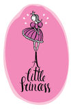 Una piccola carta di progettazione di rosa di principessa Fotografie Stock Libere da Diritti