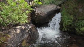Una piccola cascata stock footage