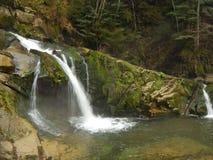 Una piccola cascata Fotografia Stock