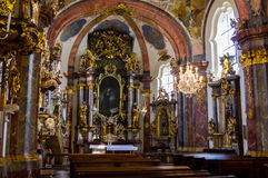 Chiesa dentro il Loretto, Praga fotografie stock