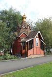 Una piccola chiesa di legno Fotografia Stock Libera da Diritti