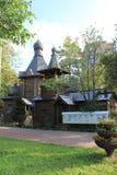 Una piccola chiesa di legno Fotografia Stock