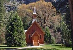 Piccola chiesa di legno Fotografia Stock