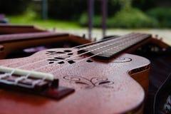 Una piccola chitarra Fotografia Stock Libera da Diritti