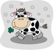 Una piccola mucca sveglia illustrazione vettoriale