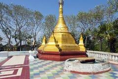 Piccola pagoda dorata Immagine Stock