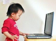 Una piccola ragazza dell'Asia Immagini Stock
