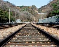Una piccola stazione ferroviaria Fotografia Stock