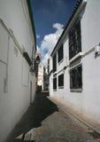 Una piccola strada di Sevilla (calle) Fotografia Stock