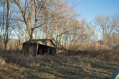 Una piccola tettoia stagionata Fotografie Stock Libere da Diritti