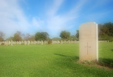 Una piedra sepulcral de la guerra mundial? Fotografía de archivo libre de regalías