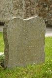 Una piedra sepulcral de mármol en blanco Imagen de archivo libre de regalías